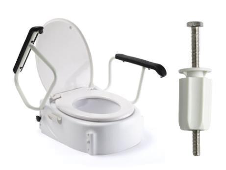 Toilettensitzerhöher mit Armlehnen