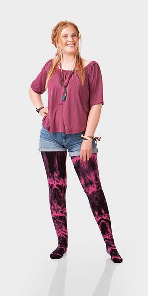 Kompressionsstrümpfe Juzo Inspiration Batik Trendfarben